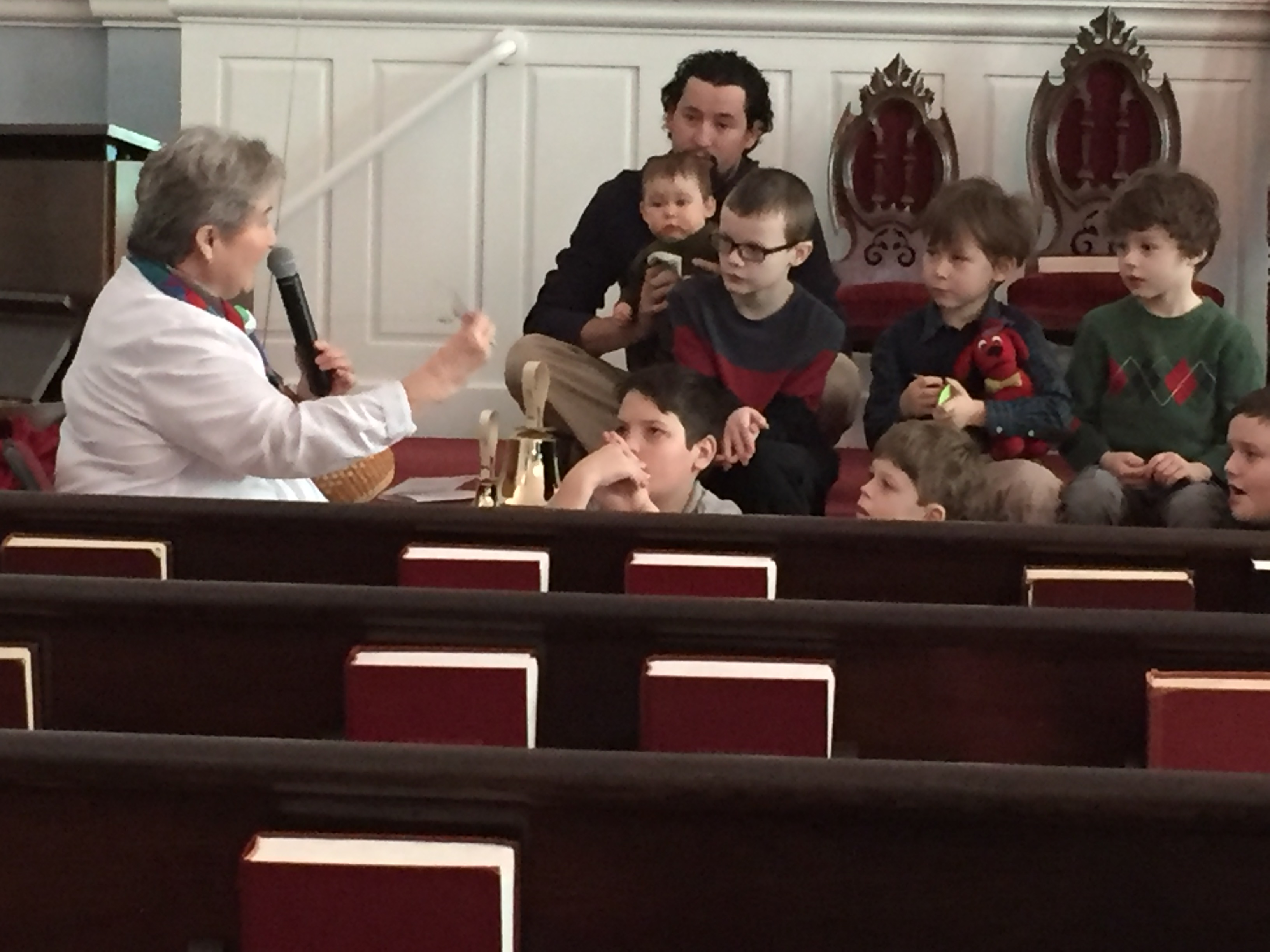 Children's Sermon During A Church Service