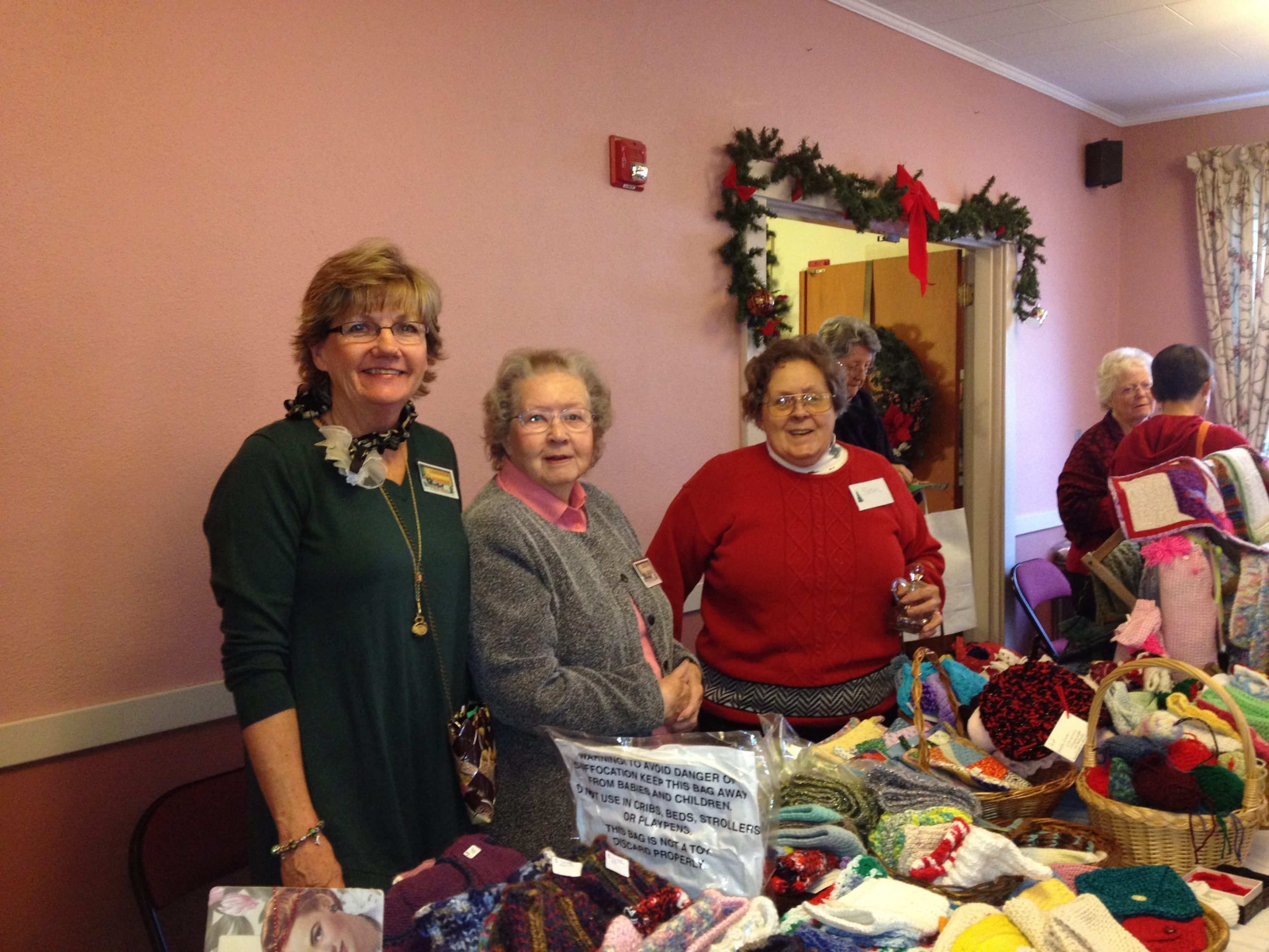 Church Members Working At Our Christmas Bazaar