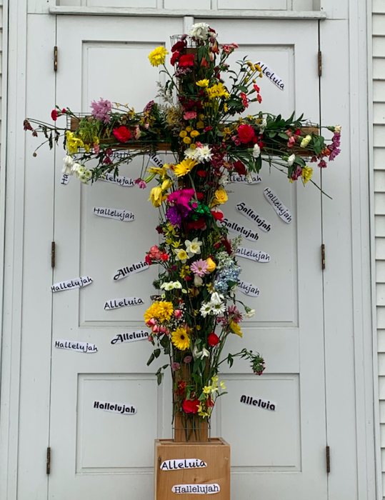 Easter Cross on the Front Door